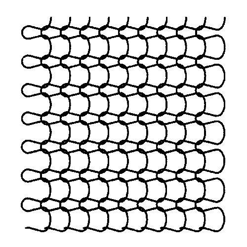 diagram of medium-fine mesh stitches